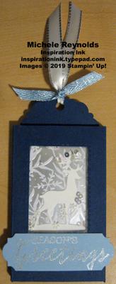 Still scenes shaker tag gift card holder