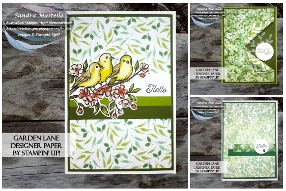 Three garden lane handmade cards
