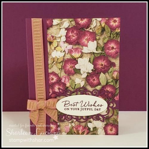 Pressed petals card front
