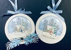 2 snow globes   1