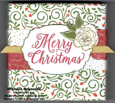 Christmas rose decorated box watermark