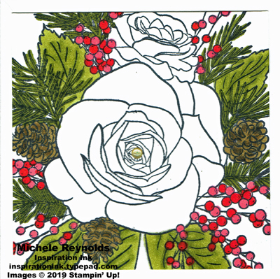 Christmas rose big bouquet watermark