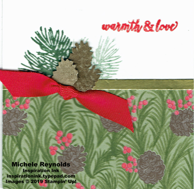 Christmas rose pinecones warmth and love watermark