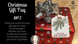 Christmas gift tag day 2