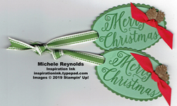 Christmas rose pinecone tags watermark