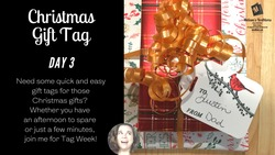 Christmas gift tag day 3