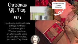 Christmas gift tag day 4 mkre8tions