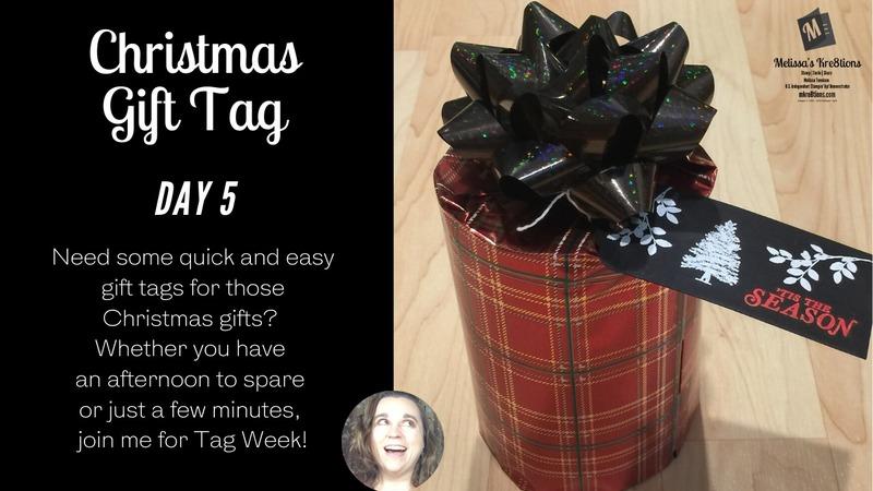 Christmas gift tag day 5