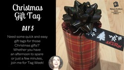 Christmas gift tag day 5