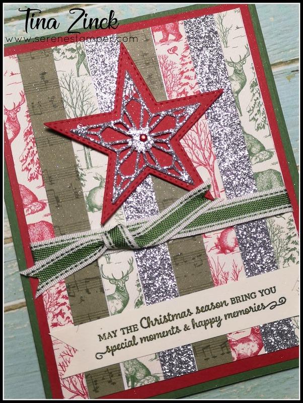 Designer series paper card stampin up tina zinck