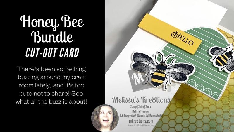 Honey bee bundle cut out card