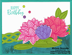 Lovely lily pad angled lilies birthday watermark