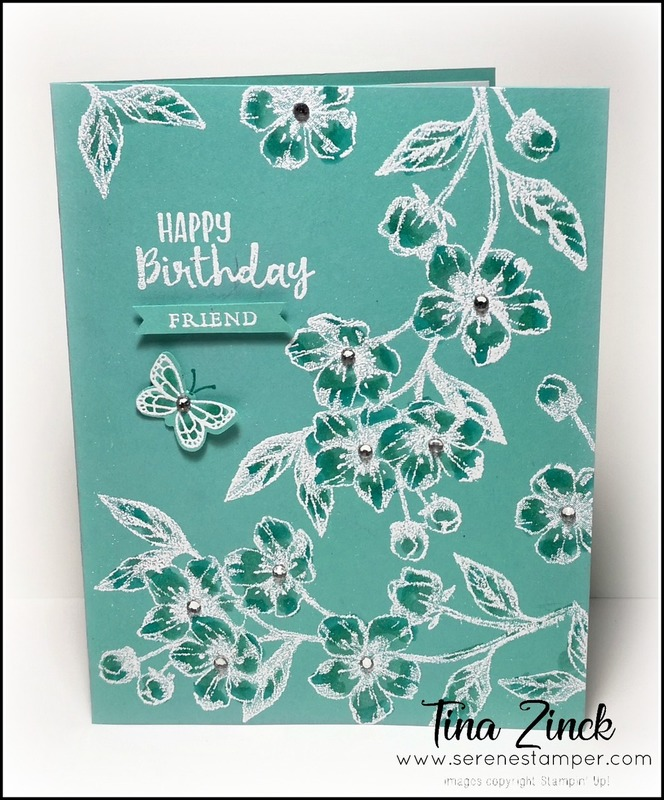 Forever blossoms stampin up tone on tone technique tina zinck