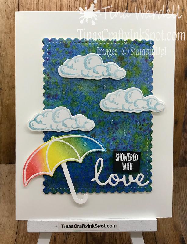 Dappled umbrella card