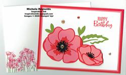 Peaceful moments poppy birthday watermark