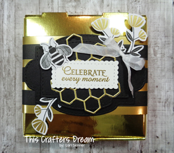 Honeybee goldpizzabox heatembossing stampinup thiscraftersdream loriskinner
