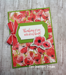 Paintedpoppies thinkingofyoucard peacefulpoppieselements stampinup loriskinner thiscraftersdream