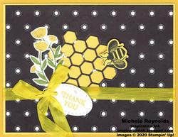 Honey bee peekaboo comb thanks watermark