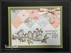 Parisian designer series paper free as a bird stampin up tina zinck