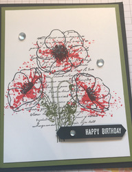 Painted poppies birthday