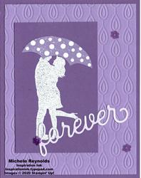 Silhouette scenes purple umbrella watermark