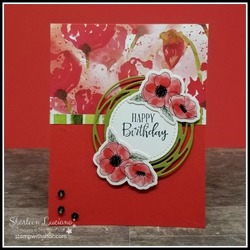 Peaceful poppies birthday card front