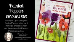 Painted poppies dsp card haul mkre8tions 1