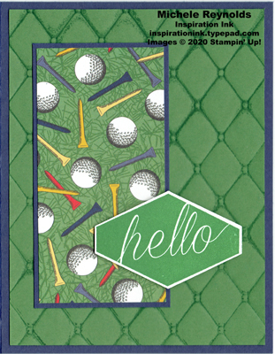 Accented blooms golf tee hello watermark