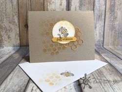 Honey bee card copy