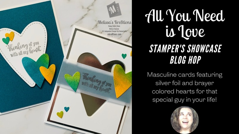 All you need is love blog hop card mkre8tions