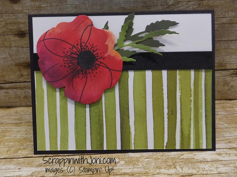 Poppy stripe card