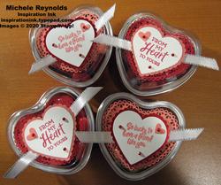 Heartfelt heart foil tins