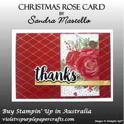 Christmas rose card