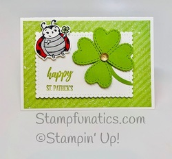 St. patrick s day card with little ladybug