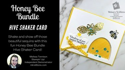 Honey bee bundle hive shaker card mkre8tions
