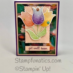 Tulip card with please as punch dsp
