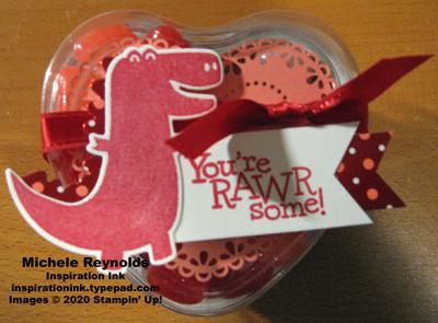 Dino days trex valentine treat