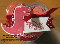 Dino days trex valentine treat