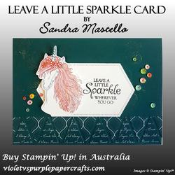 Leave a little sparkle card peacock