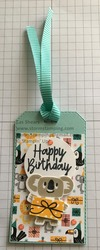 Birthday bonanza gift tag