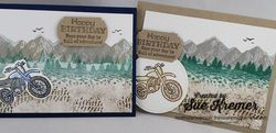 Masculine birthday mountain air and pedal to metal