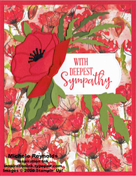 Peaceful moments red poppy sympathy watermark