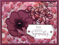 Peaceful poppy purple poppy sympathy watermark