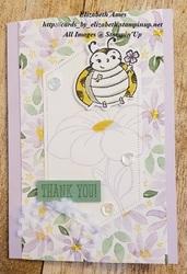 Bee with purpleposy wm