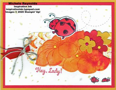 Little ladybug hey lady flowers watermark