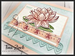 Stampin up lovely lily pad tina zinck