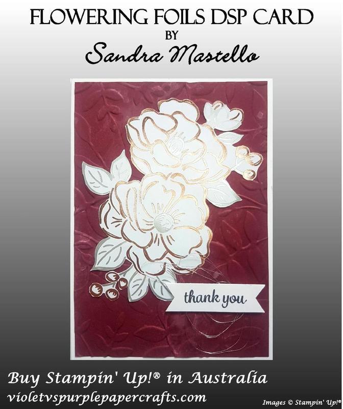 Flowering foils dsp card 04