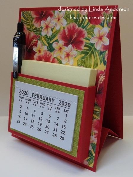 Pocket easel calendar