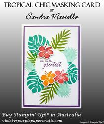 Tropical chic masking card