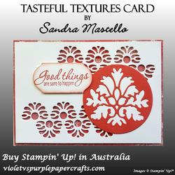 Tasteful textures card
